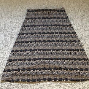 J.Jill Mayan tiles knit maxi skirt